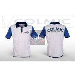 COLMIC POLO WHITE E BLUE